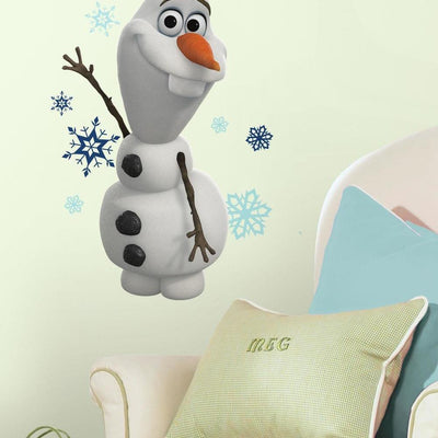 Frozen Olaf the Snow Man Wall Decals roomset