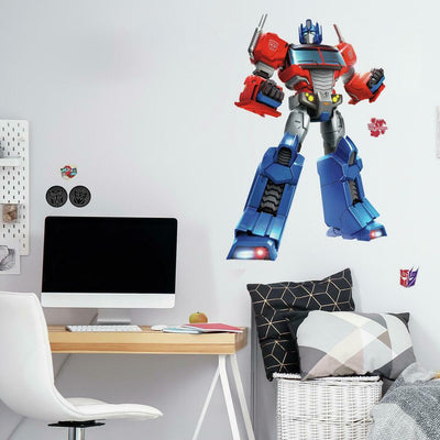 Classic Optimus Prime Peel and Stick Giant Wall Decals roomset