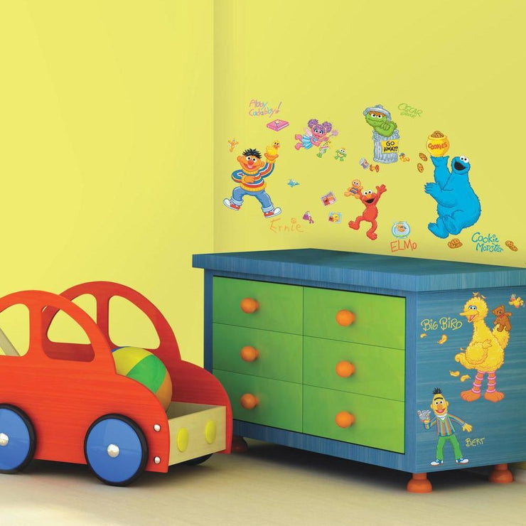 Sesame Street Wall Decals roomset