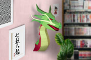 Dragon Paper Animal Head Trophy roomset