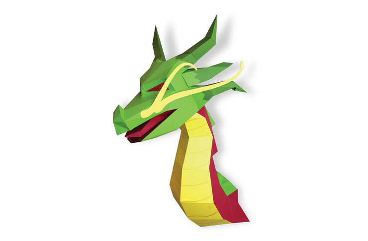 Dragon Paper Animal Head Trophy