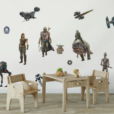 The Mandalorian Peel and Stick Wall Decals roomset