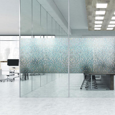 Large Mosaic Privacy Window Film roomset 1