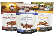 Load image into Gallery viewer, photo of three different packages of dog treats available through www.allgoodpetsupplies.com.