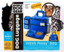 Load image into Gallery viewer, Leopard print on dog travel bag for small dogs.