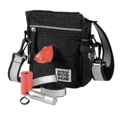 Day and night dog walking bag