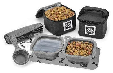 Dog gear and accessories. Dog food and treats dine away bag..
