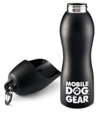 Load image into Gallery viewer, Dog water bottle, black.