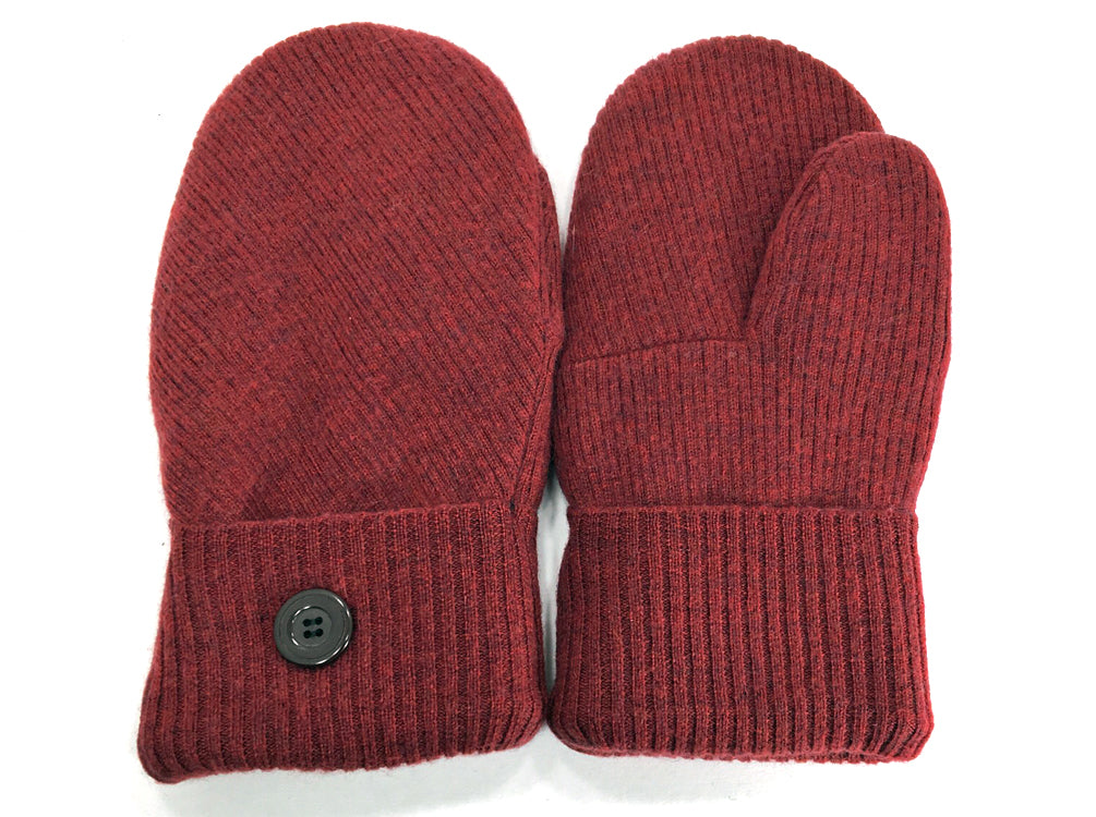 Rust Merino Wool Mittens - Medium - 1634