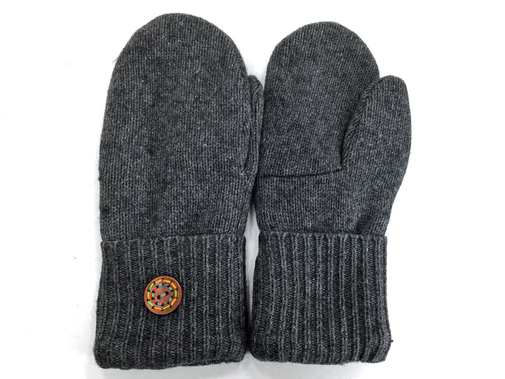 Gray Merino Wool Mittens - Medium - 1635 - The Mitten Company
