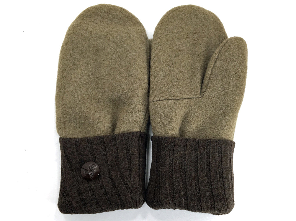 Brown Merino Wool Mittens - Medium - 1636-Womens-The Mitten Company