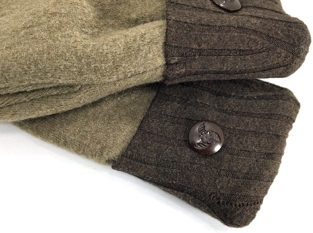 Brown Merino Wool Mittens - Medium - 1636 - The Mitten Company