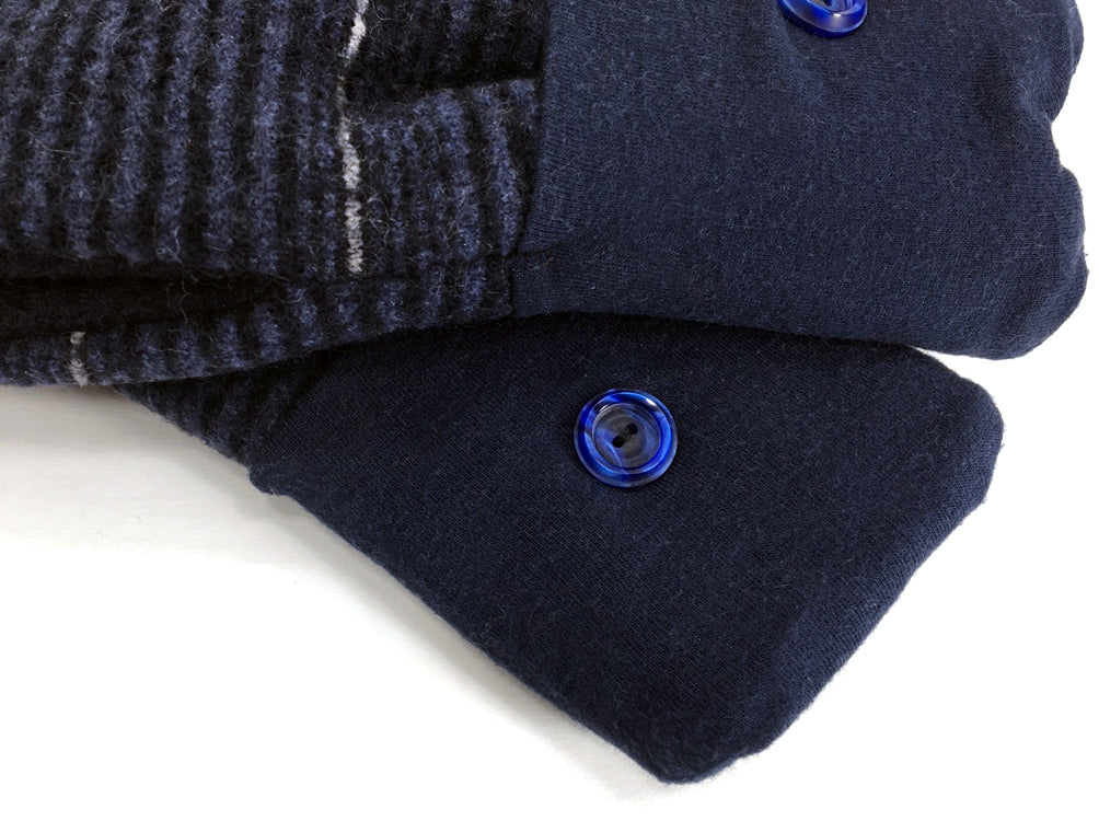 Blue Merino Wool Mittens - Medium - 1638 - The Mitten Company