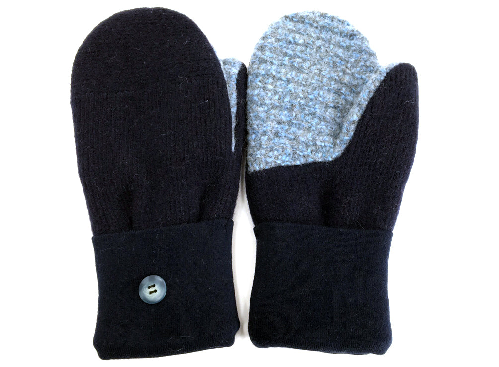 Blue Merino Wool Mittens - Medium - 1641-Womens-The Mitten Company