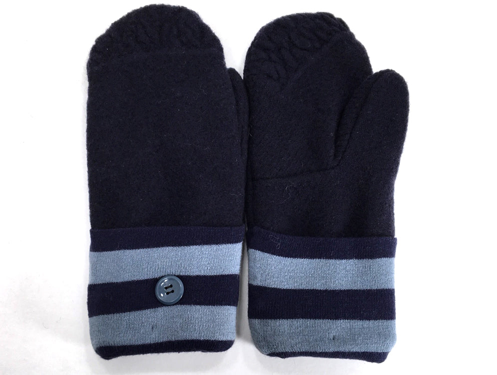 Blue Merino Wool Mittens - Medium - 1643 - The Mitten Company