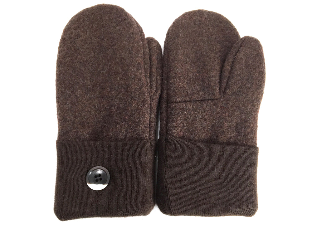 Brown Boiled Wool Mittens - Medium - 1650 - The Mitten Company