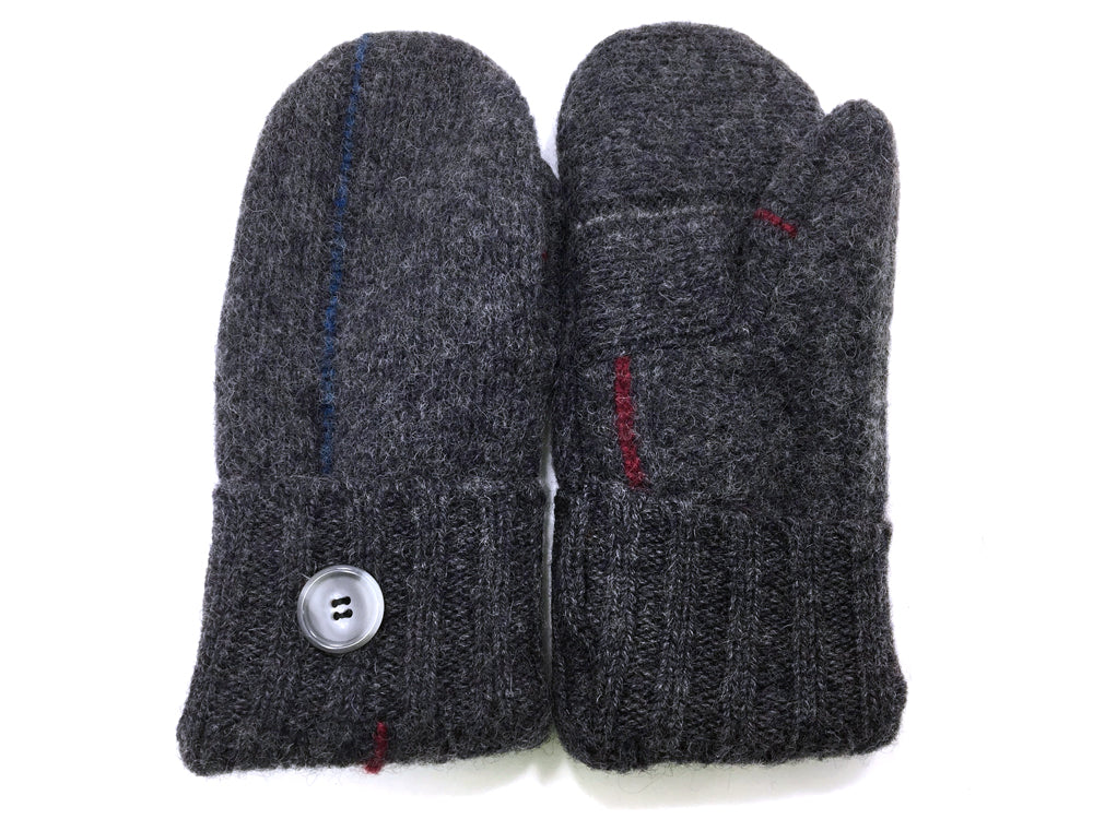Gray Shetland Wool Mittens - Medium - 1657