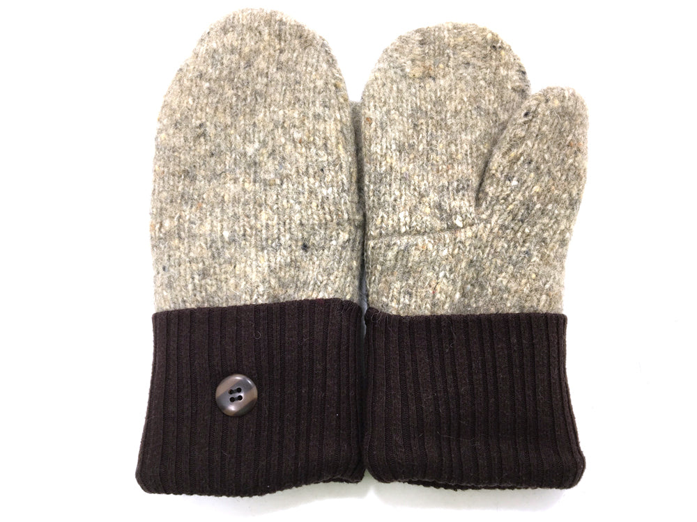Brown-Tan Shetland Wool Mittens - Medium - 1658-Womens-The Mitten Company
