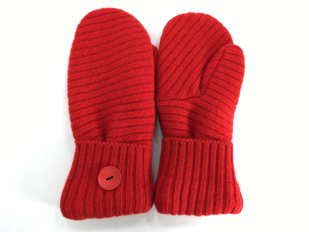 Red Shetland Wool Mittens - Medium - 1668
