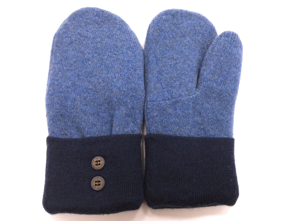 Blue Lambs Wool Mittens - Medium - 1673-Womens-The Mitten Company