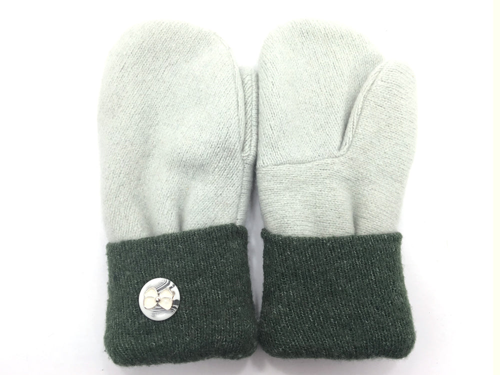 Green Lambs Wool Mittens - Medium - 1674