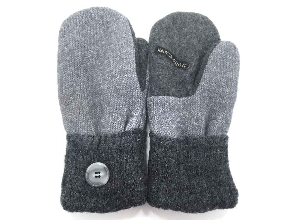 Gray Lambs Wool Mittens - Medium - 1675