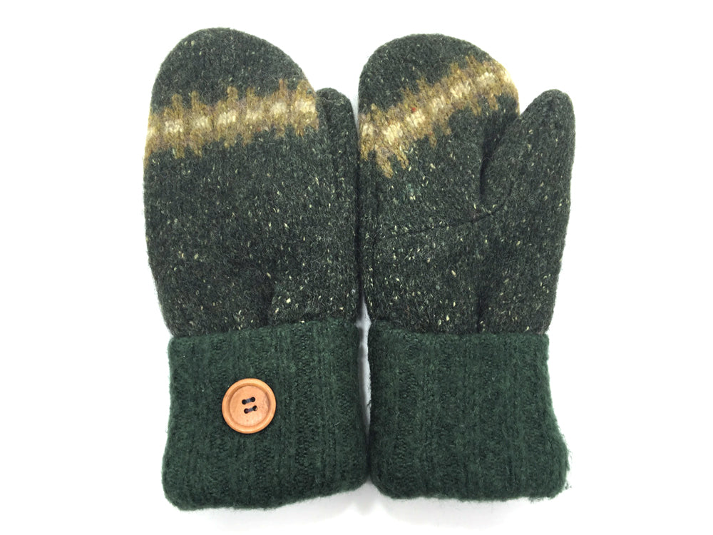 Green Lambs Wool Mittens - Medium - 1678-Womens-The Mitten Company