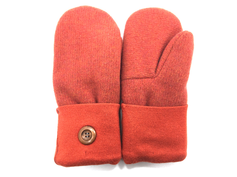Orange Lambs Wool Mittens - Medium - 1679