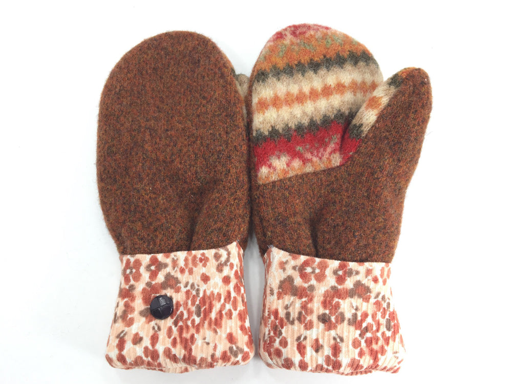 Brown Lambs Wool Mittens - Medium - 1682-Womens-The Mitten Company