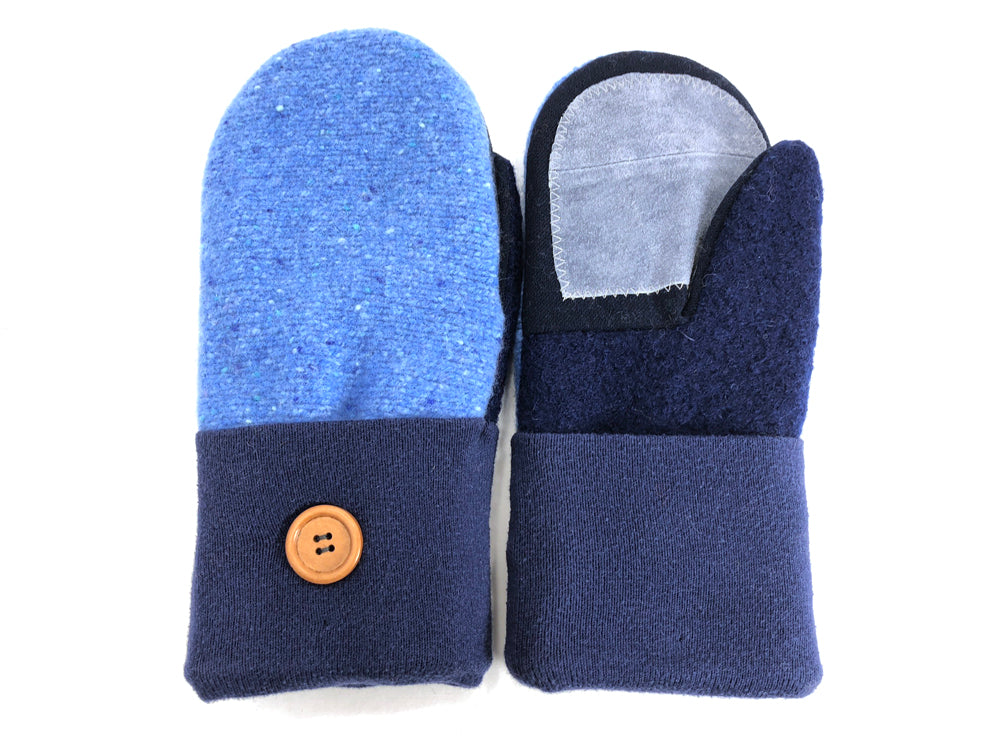 Blue Shetland Wool Women's Drivers Mittens - Medium - 1688 - The Mitten Company