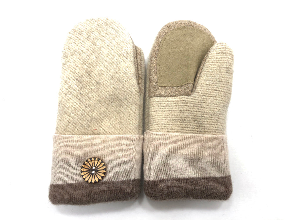 Tan Shetland Wool Women's Drivers Mittens - Medium - 1691