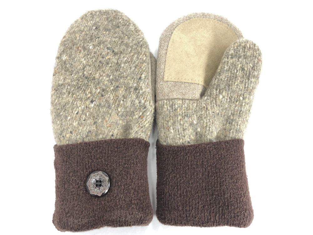 Brown-Tan Shetland Wool Mittens - Medium - 1692 - The Mitten Company