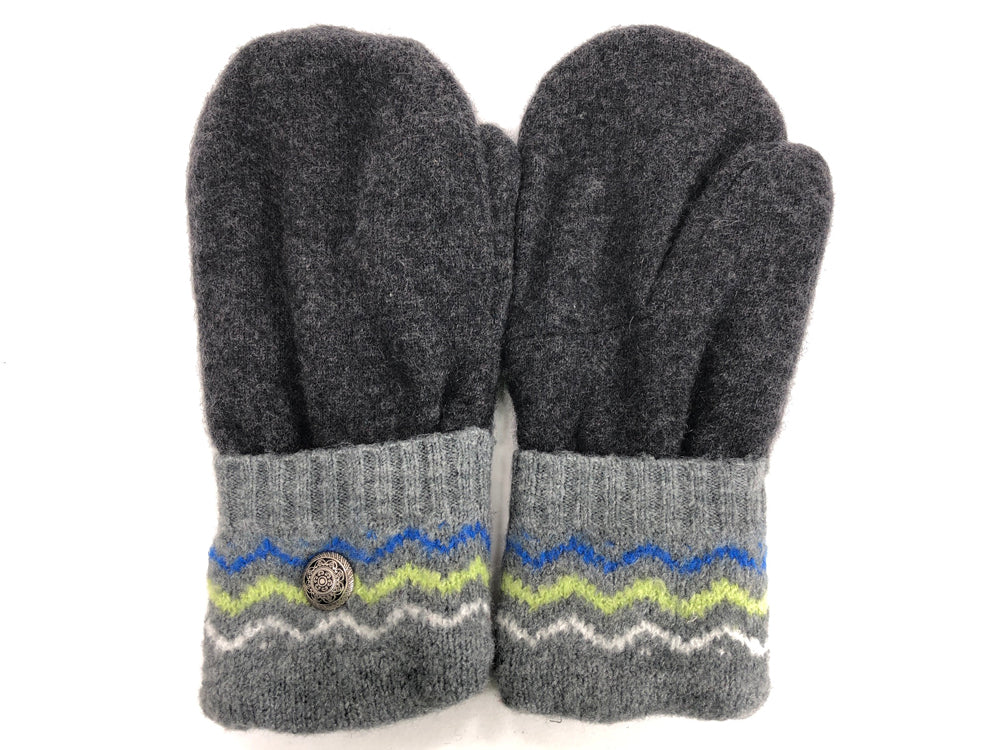 Gray Cashmere Wool Mittens - Medium - 1695