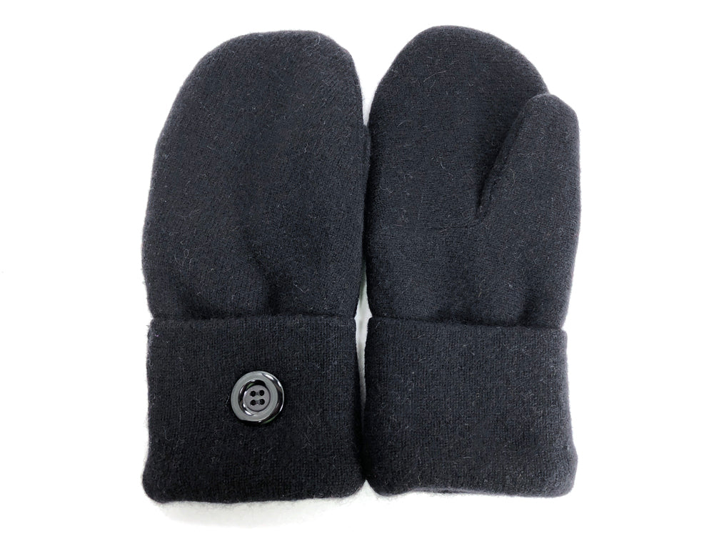 Black Cashmere Wool Mittens - Medium - 1700 - The Mitten Company