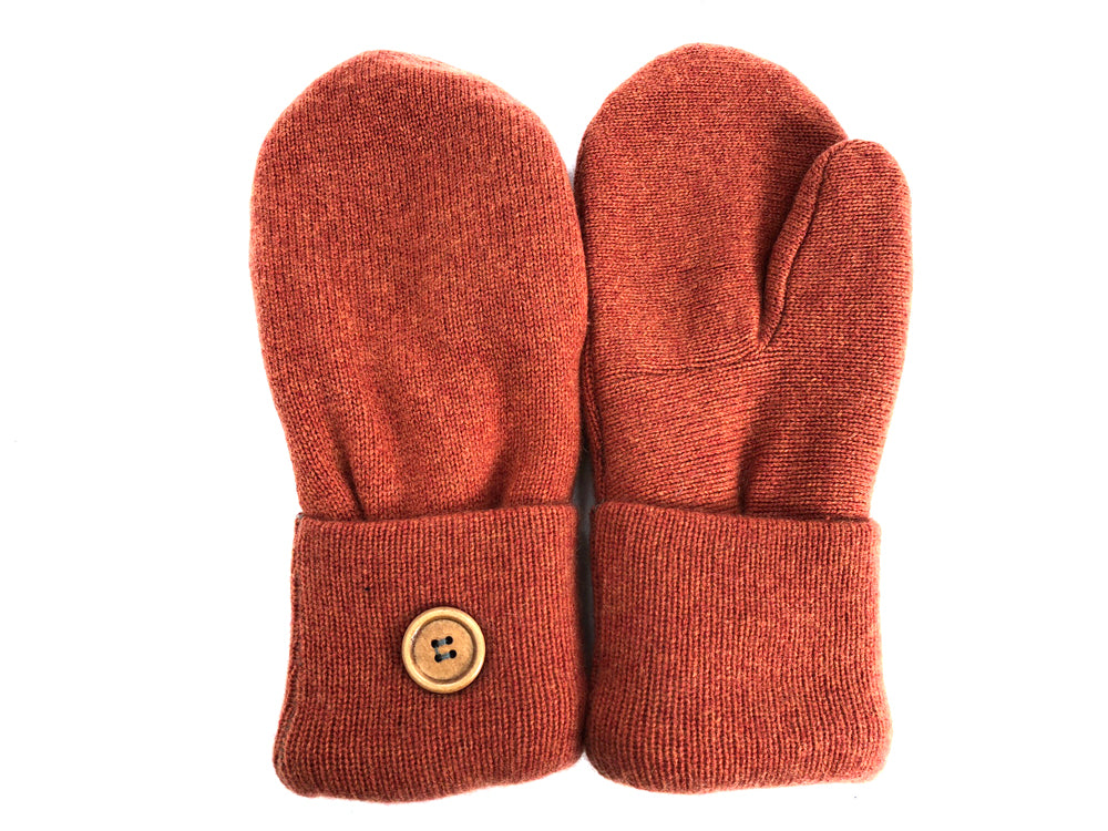 Orange Cashmere Wool Mittens - Medium - 1702-Womens-The Mitten Company