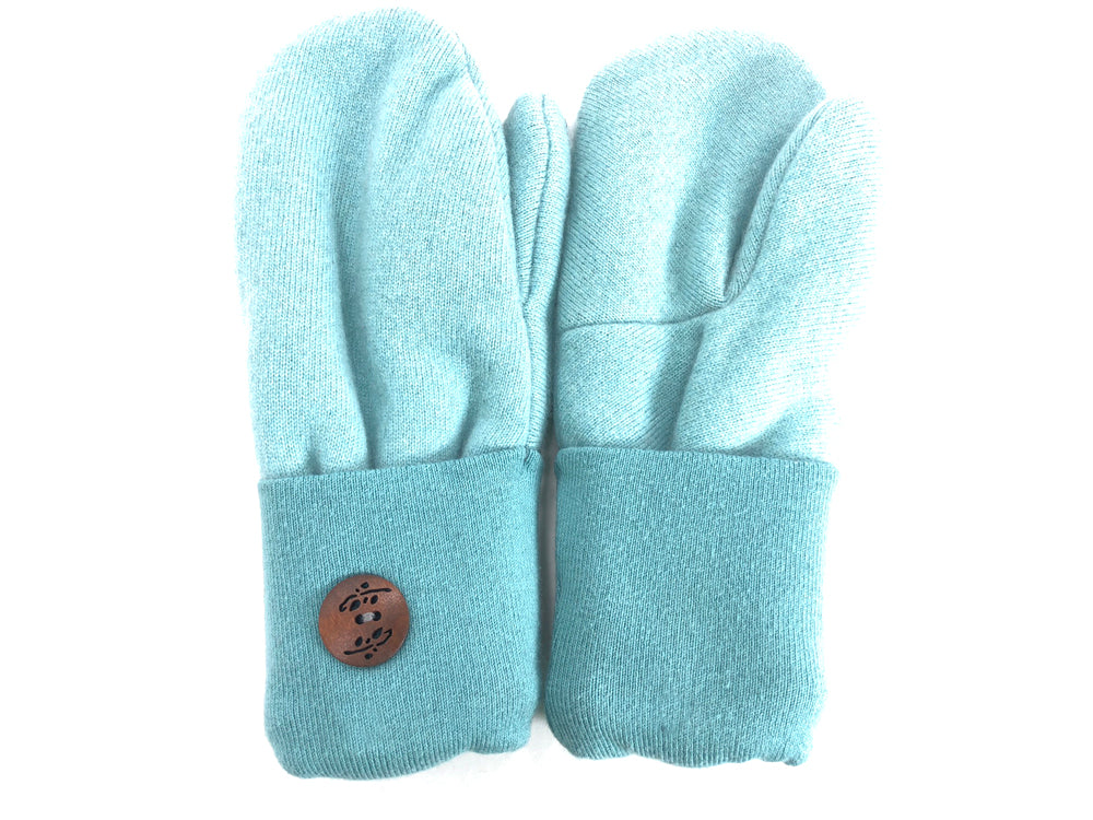 Blue Cashmere Wool Mittens - Medium - 1703 - The Mitten Company