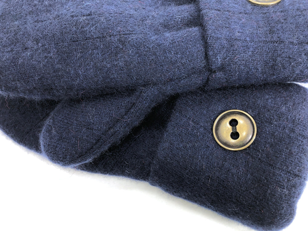 Blue Cashmere Wool Mittens - Medium - 1704 - The Mitten Company
