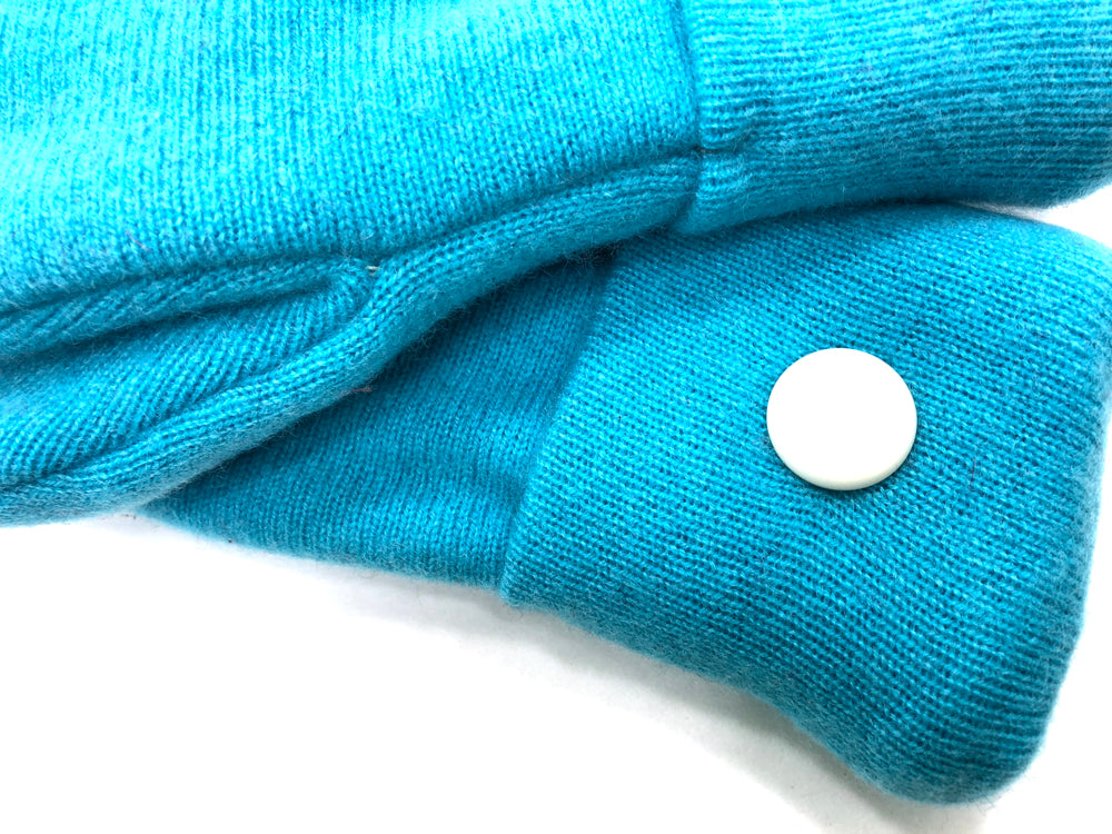 Blue Cashmere Wool Mittens - Medium - 1705 - The Mitten Company