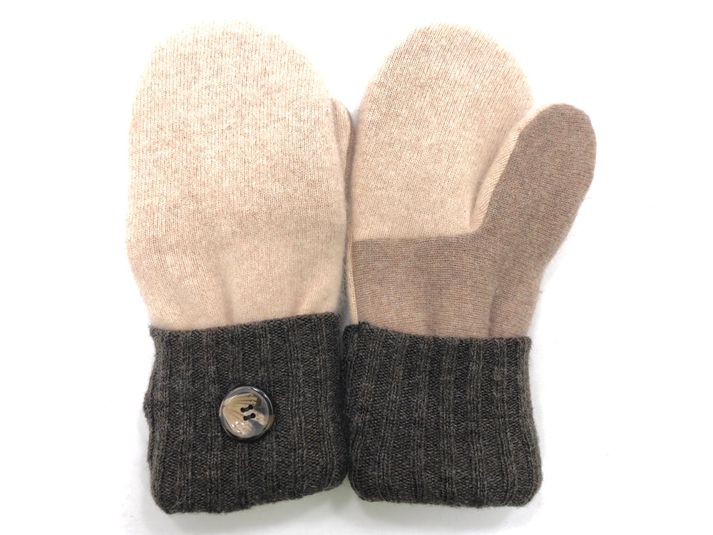 Brown-Tan Cashmere Wool Mittens - Medium - 1709 - The Mitten Company