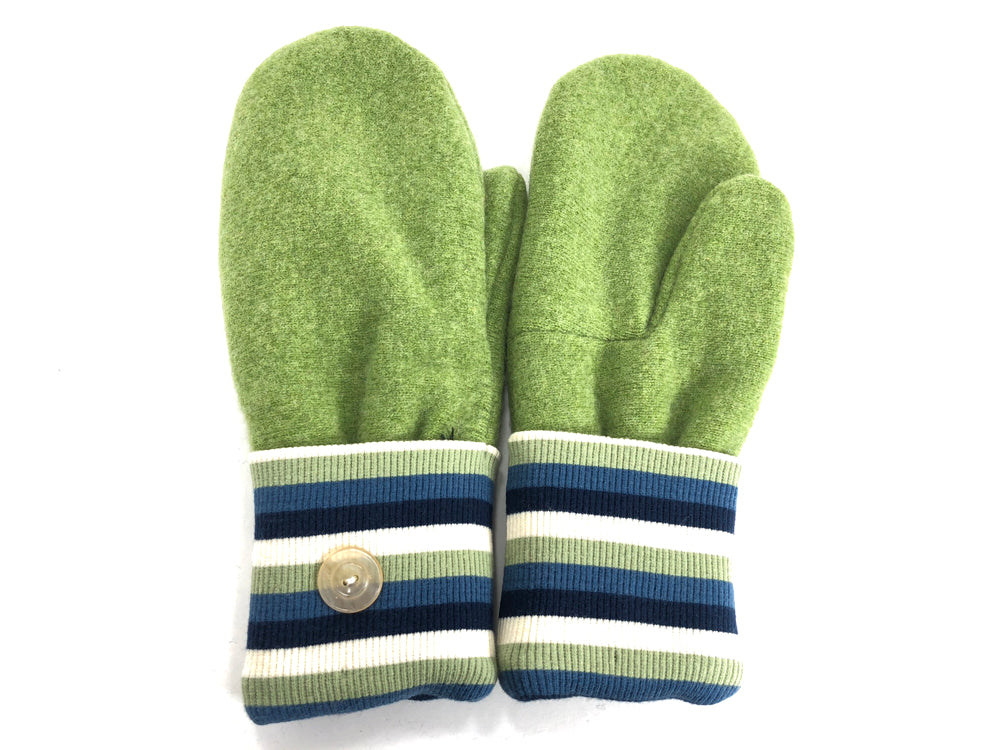 Green Lambs Wool Mittens - Large - 1711