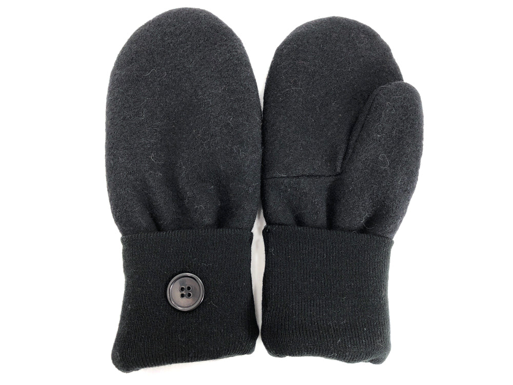 Black Merino Wool Mittens - Large - 1729 - The Mitten Company