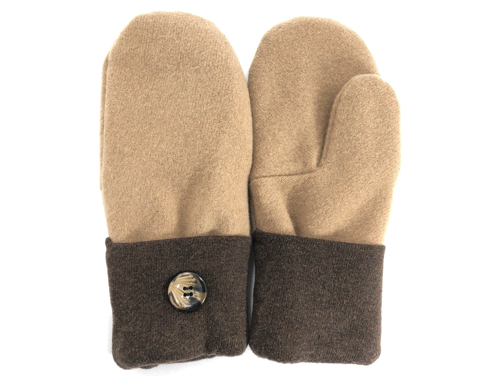 Brown-Tan Merino Wool Mittens - Large - 1732 - The Mitten Company