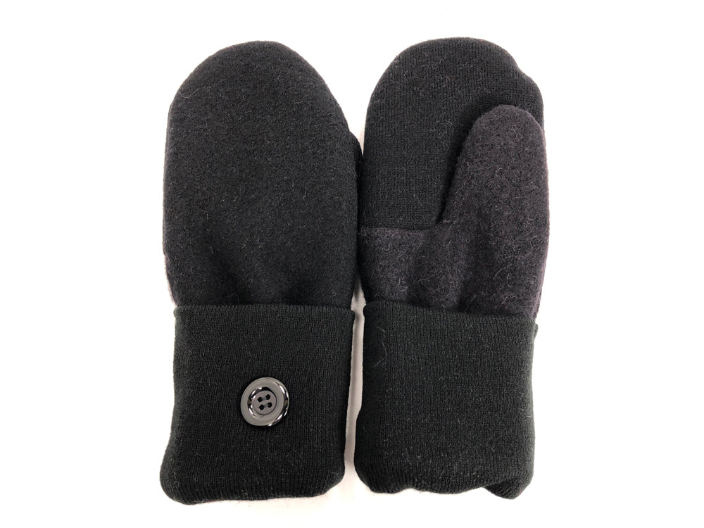 Black Merino Wool Mittens - Large - 1733 - The Mitten Company