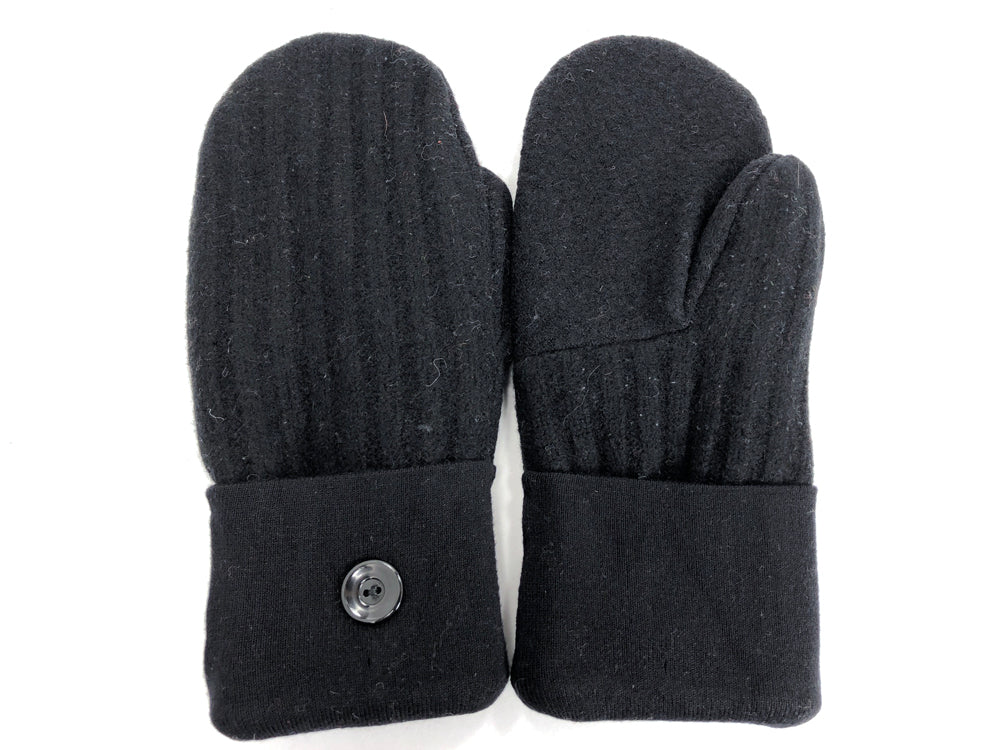 Black Shetland Wool Mittens - Large - 1737 - The Mitten Company