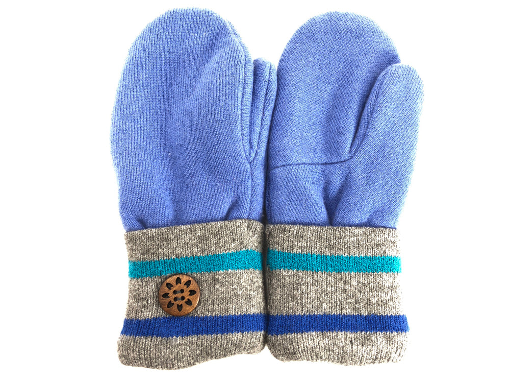 Blue-Gray Cashmere Wool Mittens - Medium - 1747-Womens-The Mitten Company