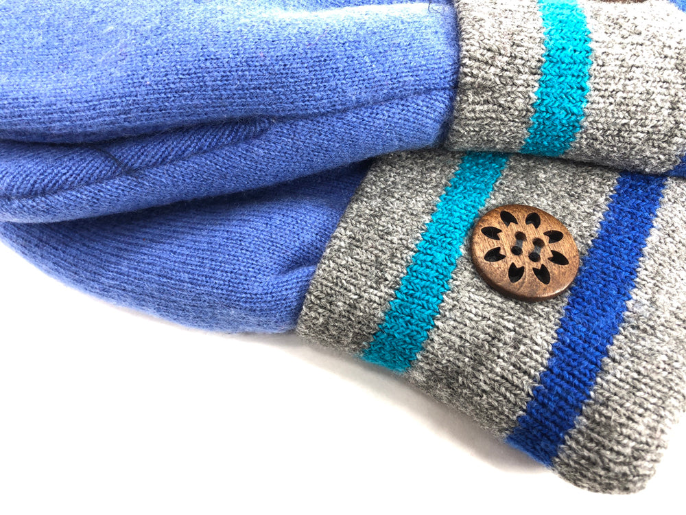 Blue-Gray Cashmere Wool Mittens - Medium - 1747 - The Mitten Company