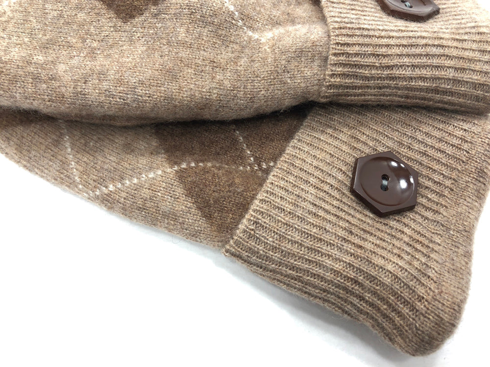Brown-Tan Cashmere Wool Mittens - Medium - 1749 - The Mitten Company