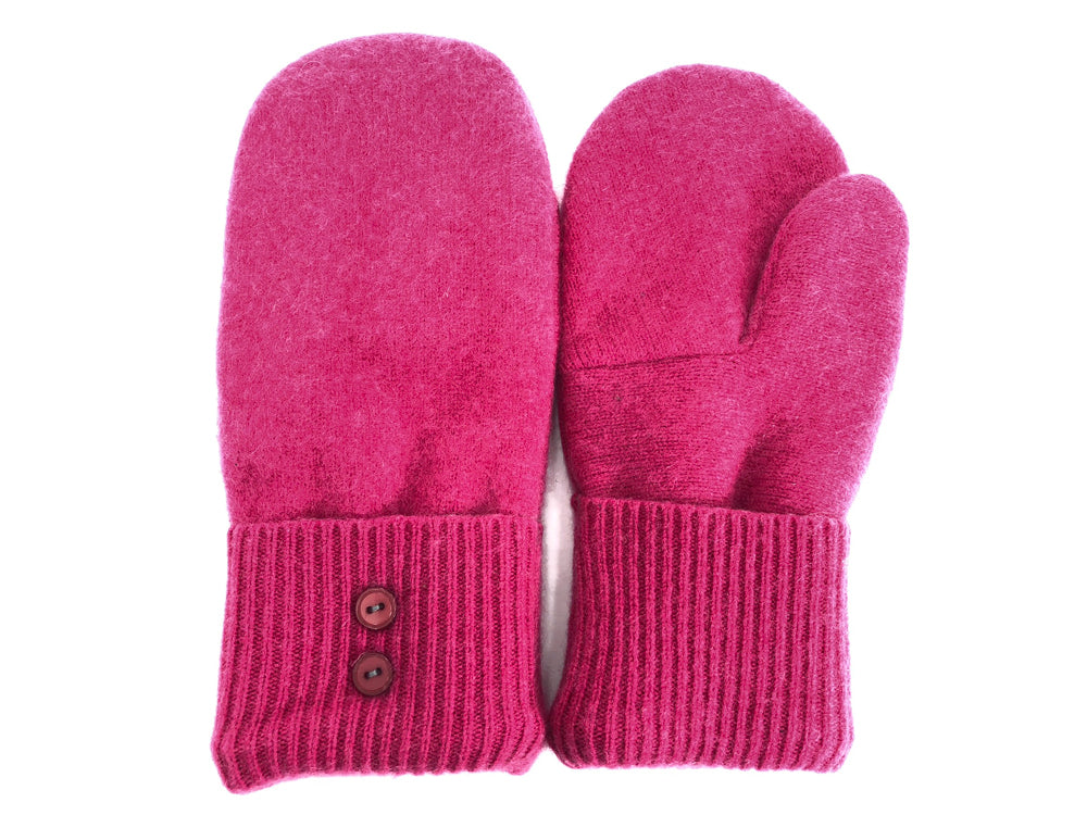 Pink Cashmere Wool Mittens - Medium - 1750-Womens-The Mitten Company