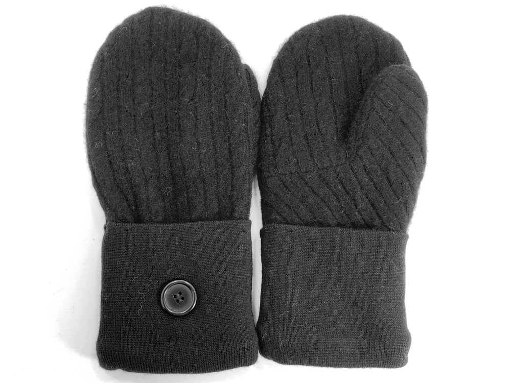 Black Cashmere Wool Mittens - Medium - 1755 - The Mitten Company