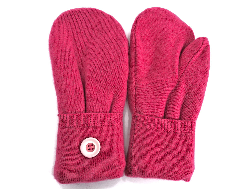 Pink Cashmere Wool Mittens - Medium - 1760-Womens-The Mitten Company